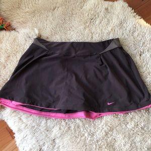 Nike women's Dri Fit Brown/Pink Tennis Skort